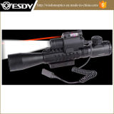 Hot Selling 3-9X40e Red Verde DOT Airsoft Riflescope Visão W M6 Red Visão Laser lanterna LED