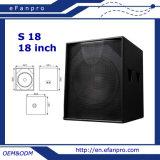 S18 Caja de Sonido Subwoofer de 18 Pulgadas Audio Woofer (TACT)