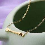 De elegante Dames vormen de Goud Geplateerde Halsband van het Sleutelbeen van de Tegenhanger Bowknot