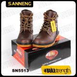 강철 발가락 (SN5513)를 가진 진짜 가죽 발목 안전 시동