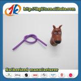 Plastiktierspielzeug-Minihundefigürchen mit elastischem Bleistift