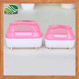 햄스터 목욕탕 애완 동물 햄스터 목욕탕 목욕 모래 룸 Sauna 화장실 분홍색 백색 청록색