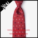 Seda 100% artesanais Tecidos Jacquard Mens Cinta Vermelha para homens