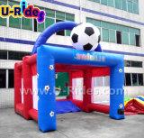 Meta inflable del balompié del campo de fútbol del túnel del balompié para los niños