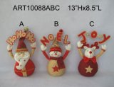 Décoration à la maison Gift-3asst. de vacances Santa, de bonhomme de neige et de renne