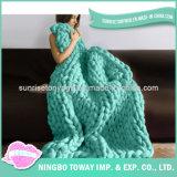 Carpet Crochet China Polyester Acrylic Hand Knit Blanket