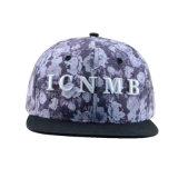 カスタム帽子の花の6パネル3Dの刺繍ポリエステル急な回復の帽子
