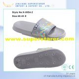 Unisexe EVA Sole et Foam Space PU Imprimé Upper Flat Bathroom Lavable Beach Slipper