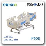 병원 가구, 5 기능 ICU Ce& ISO를 가진 조정가능한 전기 간호 병상