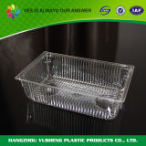 Transparentes Wegwerfnahrungsmittelverpackungs-Tellersegment ohne Kappe