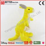 子供のための極度の柔らかいぬいぐるみのプラシ天のカンガルーのおもちゃ