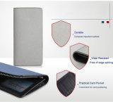 Mappen-Hersteller-Zubehör-echtes Leder-Karten-Geld-Klipp-Handmappe für Männer
