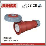IP67 5p 16A eingehangener gute Qualitätsoberflächenstecker für industrielles