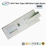 2018 nuovo tipo indicatore luminoso di via solare tutto compreso del LED 60W