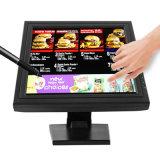 15 polegadas POS portátil D-SUB monitor de ecrã táctil LCD USB
