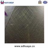 Placage en laiton repérant la feuille décorative d'acier inoxydable