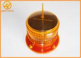 Luz de advertência de piscamento giratória solar marinha de brilho elevado do diodo emissor de luz