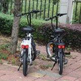 Bicicleta Foldaway elétrica da bicicleta de Lianmei com bateria do Lítio-Íon