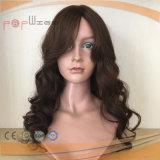 人間の毛髪の皮の上のフリンジの完全な手によって結ばれるレースのかつら(PPG-l-0135)
