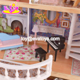 아이 W06A221를 위한 새로운 도착 호화스럽고 다채로운 나무로 되는 큰 인형의 집
