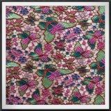 Шнурок гипюра шнурка вышивки бабочки Multicolor
