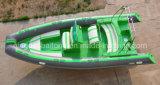 Pêche, gonflable, bateau terne de canot de yacht de bateau de nervure pour 6.8m