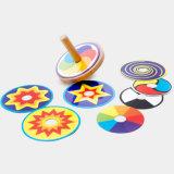 Игрушки игры малышей закручивая верхних частей Beyblade деревянных детей смешные цветастые для взрослых