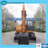 Equipamentos de Construção Pesada 150 escavadeira hidráulica Rodas/Coveiro com Yuchai Motor