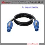 Puissance dans la puissance de Powercon-Verrouillage de câble de connecteur mâle 3
