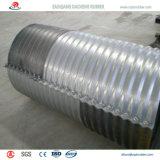 Tubulação galvanizada corrugada Zinco-Placa para a sargeta Railway a France