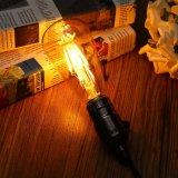 Lampada dorata AC110/220V dell'indicatore luminoso di lampadina della PANNOCCHIA LED del filamento dell'annata di Dimmable Edison del coperchio di E27 St64 8W retro