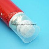 Tubo di plastica della pulitrice facciale cosmetica con la spazzola molle di vibrazione Applicater del silicone