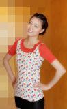 Damen Cashmere Crew Neck Pullover Half Sleeve mit Printing Cprss1101L