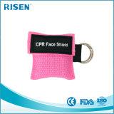 Einwegventil-Atmung-Schablone CPR-Gesichts-Schild Keychain