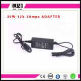 12V 3A 36W LED Conductor, LED cargador, adaptador de 36W LED, LED adaptador de plástico, adaptador Negro, CA al adaptador DC, 36W LED de alimentación, adaptador de 12V CC de voltaje constante