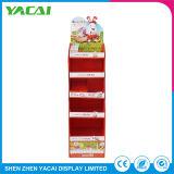 Reciclar papel plegado Piso Stand Pantalla Productos Rack