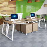 Mesa da estação de trabalho da mobília de escritório com ficheiro