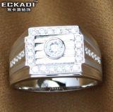 18k de gouden Mannelijke Ring van het Zirconiumdioxyde (EKDRW716)