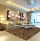 3 piezas de la venta caliente de pared moderna de la pintura decorativa casera del arte de la pared cuadro pintado sobre lienzo Flores pintura enmarcada con Mc-198