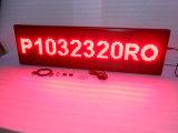 Sinal movente programável Semi-Ao ar livre do diodo emissor de luz da cor P10 vermelha