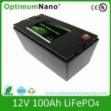 12.8V pack batterie du lithium 12V 100ah LiFePO4 avec la caisse d'ABS