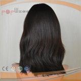 Fabricante de encargo largo elegante de la peluca del frente del cordón del pelo de Remy de la Virgen de la alta calidad del color