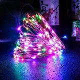 A multi cor RGB para a corda estrelado de controle remoto do Ambiance elegante do feriado do Natal ilumina a decoração ao ar livre