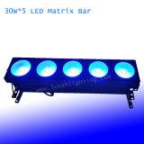 Matrice de LED lumière aveugle RVB 30W*5 3à1