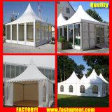 Tenda bianca del Pagoda dell'alto picco del PVC dell'alluminio per l'ospite di Seater delle 30 genti