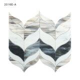 Mosaico moderno do vidro manchado do estilo da forma de folha