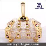 Frasco dos doces do ouro, potenciômetro de vidro do açúcar na embalagem da caixa de cor (GB1802S-DN)