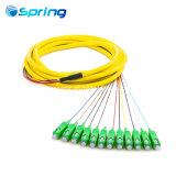 12 сердечника оптоволоконный кабель пучками кабелем для подключения оптических волокон плоский хвост