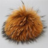 In het groot Pluizig Bont 15cm Bal Keychain van de Wasbeer van Keychain van de Bal Grijs