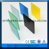 Laminated Silk Patterned Colorful Decorative Glass